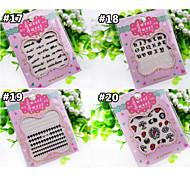 Beautiful Fluorescence Nail Art Stickers QJ17-20(4pcs)