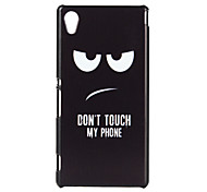 Don't Touch My Phone Patter Pattern PC Soft Case for Sony Xperia M4
