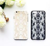 Retro-Blumenmuster durchbrochene Reliefdruck PC-Material Telefonkasten für iphone 6 / iphone 6s (verschiedene Farben)