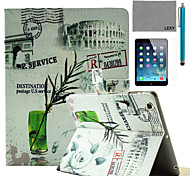 LEXY® Green Bamboo leaf Pattern PU Leather Flip Stand Case with Screen Protector and Stylus for iPad Air/iPad 5