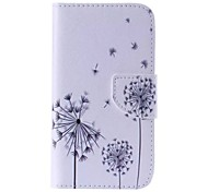 Black Dandelion Painted PU Phone Case for Galaxy Grand Prime/Core Prime/J5/J1/J1 Ace/J2