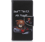 Chainsaw Bear Painted PU Phone Case for Sony Xperia M2/M4