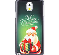 Christmas Santa Claus and Gift Pattern PC Hard Back Cover Case for Samsung Galaxy Note 3
