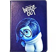 Girl's Frown Pattern PU Leather Case with Stand and Card Slot for iPad Air 2