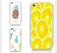ananas et modèle de citron cas PC Phone couverture arrière cas pour iphone5c