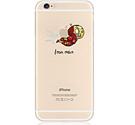 patrón de volar TPU soft phone transparente para el iphone 6 / 6s