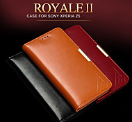 KALAIDENG Royale II Series Imported South Africa Cow Leather Protection Case for Sony Z5