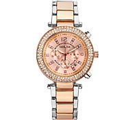 Women'S Watches Fashion Crystal Strip Quartz Time Zones Geneva Watch