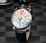 Unisex Colorful Number Auto Mechanical Fashion Watch