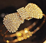 Crystal Bowknot Bangle Bracelet Wedding Jewelry