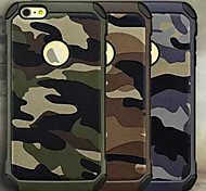 Troops Camouflage Pattern Leather/TPU 2 In 1 Phone Case for iPhone 5/5S(Assorted Colors)