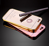 High Quality Luxury Protective Metal Bumper Frame with Back Cover for iPhone 6 Plus/6S Plus (Assorted Colors)