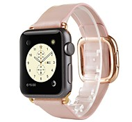 Rose Gold Modern Buckle Genuine Leather Watch Band Strap for Apple Watch 38MM Women