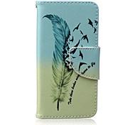 Для Кейс для iPhone 5 Кошелек со стендом Флип Кейс для Чехол Кейс для Перо Твердый Искусственная кожа для iPhone SE/5s iPhone 5