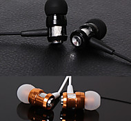 High Stereo Headset In Ear Metal Earphone handsfree Headphones with Mic 3.5mm Earbuds for Player Samsung iphone