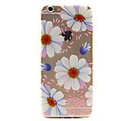 motif de fleur cas de couverture soulagement TPU pour iPhone 6 6s / iphone