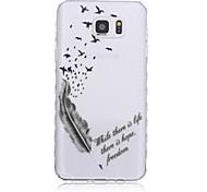 Voor Samsung Galaxy Note Patroon hoesje Achterkantje hoesje Veer TPU Samsung Note 5 / Note 4 / Note 3