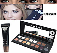 Lorac Pro Cosmetics Makeup Set(16 Colors Luminous Eyeshadow Eye Shadow Palette with Mirror+1PCS Eye Primer Base)