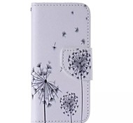 motif de pissenlit en cuir de mobile pour iPhone 5 / 5s