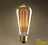 E26 60W ST64 Straight Wire Edison Art Deco Tungsten Light Source