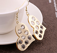 Ms. European and American fashion wild heart-shaped earrings earrings