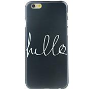 Black Bottom Pattern  Hard Case for iPhone 6/6S