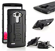 3 in 1 Impact Black Armor Hybrid Case With Belt Swivel Clip Stand for LG V10