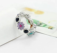 Sweet Lovely Colorful Drill  Cute  Daisy Flowers Ring