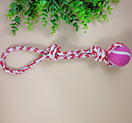 Pull On The Rope Pet Cotton Rope Toys Candy + Tennis The Cat And Dog Toys Clean Teeth Swing The Ball