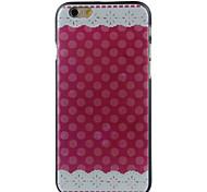 vermelho pano de alta qualidade e bom estojo rígido padrão de preço para iphone 6 / 6s