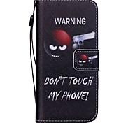 la nouvelle ne touchez pas mon modèle de téléphone en cuir PU carte flip étui de mobile pour iphone 6 / 6s