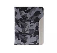 ультратонкий камуфляж стиль кожаный чехол мода прохладный с лентой карты держатель чехол для Ipad воздуха 2 / Ipad 6