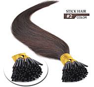 inclino extensiones de cabello marrón oscuro # 2 otros colores disponibles