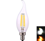 YWXLIGHT E12 8W 4*COB 640 LM Warm White / Natural White LED Candle Bulbs AC 110-130 V