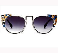 Sonnenbrillen mujeres's Retro / Vintage / Modern / Modisch Rund  Weiß / Orange / Rot / Blau / Grün / Grau Sonnenbrillen Vollrandfassung