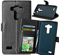 Luxus-PU-Leder Karteninhaber Geldbörse stehen Klappdeckel mit Fotorahmen Fall für LG g4 Beat / g4 s (verschiedene Farben)