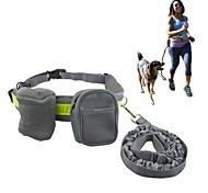 Pething @Running/Jogging/Walking Hands Free Dog Leash with Pouch/Waist Bags/Reflective Waist Belt/Elastic Leash