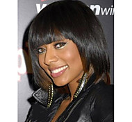 Woman's Black Color Short Straight Synthetic Wigs