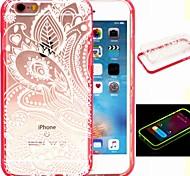 2-in-1 der Phönixfeder-Muster-TPU rückseitige Abdeckung mit pc Autostoßfest Hülle für iPhone 6 / 6S