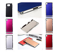 For Sony Case / Xperia Z3 Plating Case Back Cover Case Solid Color Hard PC for SonySony Xperia Z3 / Sony Xperia Z3 Compact / Sony Xperia
