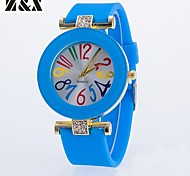 Women's Fashion Personality Quartz Silicone Analog Pierced Wrist Watch(Assorted Colors) Cool Watches Unique Watches