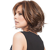 Women lady Brown Color Short Synthetic Hair Wigs