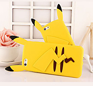 Cartoon Animal Figure Silicone Soft Back Cover for iPhone 5/5S(Assorted Colors)