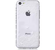 бабочки волны скольжения ручка ТПУ мягкой случай телефона для iPhone 5с