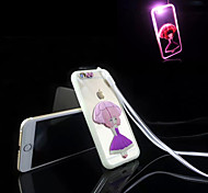 Calling Sense LED Flash Light with The Umbrella Girl Acrylic TPU Material 2 in 1 Back Cover Case for iPhone 6S/6