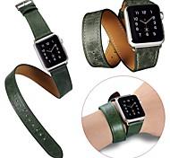 3 in 1 lusso cinturino da polso in pelle sostituzione della cinghia di banda con adattatore chiusura per la vigilanza della mela 42