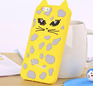The New Three-Dimensional Cute Cat  Green Silicone Phone Case for iPhone 5 /5S (Assorted Colors)