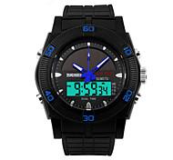 Masculino Relógio de Pulso Energia SolarLED / Calendário / Cronógrafo / Impermeável / Dois Fusos Horários / alarme / Energia Solar /