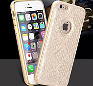 HZBYC® New Serpentine Luxury Leather Lines Genuine Leather Metal TPU Integrated Frame Case for Apple iPhone 6/6S