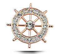 High-Grade Diamond Anchor Brooch.